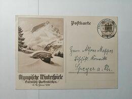 Deutsches Reich  Postkarte Olympische Winterspiele 1936 - Briefe U. Dokumente