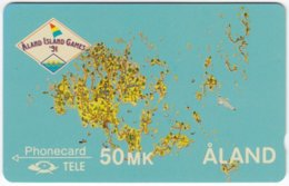 ALAND A-022 Magnetic Tele - Map, Aland, Event, Island Games - Used - Aland