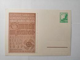 Deutsches Reich  Postkarte Sammeln Am Feiern Abend 1937 - Allemagne