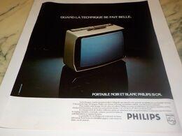 ANCIENNE PUBLICITE QUAND LA TECHNIQUE SE FAIT BELLE  PHILIPS 1976 - Televisione