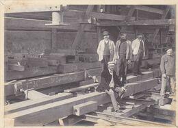 ANTWERPEN-DAM STATIE. ANVERS-DAM STATION. DEPLACEMENT ET REHAUSSE, 1907. PHOTO ORIGINAUX, UNIQUE -LILHU - Places