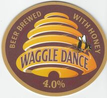 YOUNG'S BREWERY  (WANDSWORTH, ENGLAND) - WAGGLE DANCE - PUMP CLIP FRONT - Uithangborden
