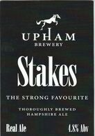 UPHAM BREWERY  (UPHAM, ENGLAND) - STAKES - PUMP CLIP FRONT - Uithangborden