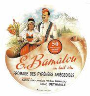 ETIQU. E. BAMALOU CASTILLON ARIEGE - Fromage