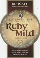 RUDGATE BREWERY  (YORK, ENGLAND) - RUBY MILD - PUMP CLIP FRONT - Uithangborden