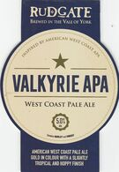 RUDGATE BREWERY  (YORK, ENGLAND) - VALKYRIE APA WEST COAST PALE ALE - PUMP CLIP FRONT - Uithangborden