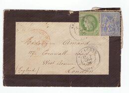 Sur Lettre Ceres N°53 Cachet Arcachon 1876 - 1871-1875 Cérès