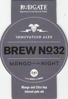 RUDGATE BREWERY  (YORK, ENGLAND) - BREW No 32 MANGO IN THE NIGHT - PUMP CLIP FRONT - Uithangborden