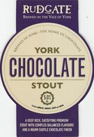 RUDGATE BREWERY  (YORK, ENGLAND) - YORK CHOCOLATE STOUT - PUMP CLIP FRONT - Uithangborden