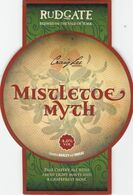 RUDGATE BREWERY  (YORK, ENGLAND) - MISTELTOE MYTH - PUMP CLIP FRONT - Uithangborden