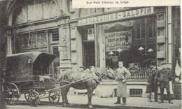 Liege Rue Pont D'avroy, 25 Attelage Brassinne Galopin Belle Anmation  1910 - Liege