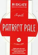 RUDGATE BREWERY  (YORK, ENGLAND) - PATRIOT PALE - PUMP CLIP FRONT - Uithangborden