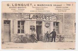 CPA AISNE.MARCHAIS.G.LONGUET.BICYCLETTES.MACHINES A COUDRE.PHONO PATHE.ARTICLE DE CHASSE ET DE PECHE.VOITURES D'ENFANT - Other Municipalities