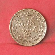 HONG KONG 5 CENTS 1967 -    KM# 29,1 - (Nº37702) - Hongkong
