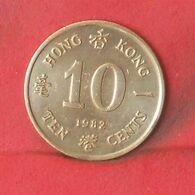 HONG KONG 10 CENTS 1982 -    KM# 49 - (Nº37704) - Hongkong