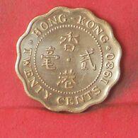 HONG KONG 20 CENTS 1980 -    KM# 36 - (Nº37706) - Hongkong