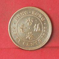 HONG KONG 50 CENTS 1977 -    KM# 34 - (Nº37713) - Hongkong