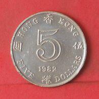 HONG KONG 5 DOLLARS 1982 -    KM# 46 - (Nº37717) - Hongkong