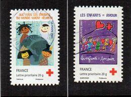 2008 Autoadhésifs  Yv  N°145/146  Aux Profit De La Croix Rouge (4125/4126 ) Oblitéré - Croix-Rouge