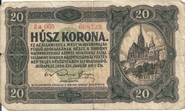 HONGRIE 20 KORONA 1920 VG+ P 61 - Ungheria