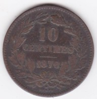 Luxembourg 10 Centimes 1870 Avec Point,  Guillaume III KM# 23  - L#264-6 - Lussemburgo