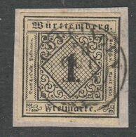 Altdeutschland - Wuerttemberg , Nr 1 Auf Briefstück - Wurtemberg