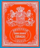 Etiquette Liqueur AMSTERDAM - DUBB ORANGE CURACAO - Labels