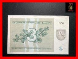 LITHUANIA 3 Talonas 1991  P. 33 B  UNC - - Lithuania