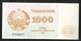 UZBEKISTAN  1000 SUM 1992 - Oezbekistan