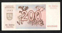 LITHUANIA  200  1993  UNC - Lithuania