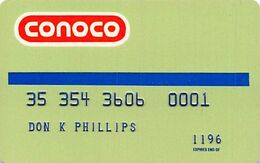 Conoco Credit Card Expired 11/96 - Credit Cards (Exp. Date Min. 10 Years)