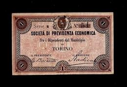 BIGLIETTO DA 1 LIRA SOCIETA DI PREVIDENZA ECONOMICA TORINO - Other