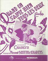 """""""Quand On S'aime Bien Tous Les Deux""""  René Bersin Et Edith Burger - Paroles Charlys - Musique Vincent Scotto Et Charlys - Other"""