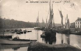 Pont Aven - Le Bas Port, Bateaux De Pêche - Collection Villard - Carte Dos Simple N° 230 - Pont Aven