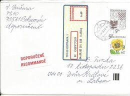 COB 5 Czech Republic Coat Of Arms 2001 Lion Pansy - Enveloppes
