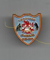Pin's Pompiers Saint-Ghislain 1843-1993, Dos Doré, Rare..BT15 - Brandweerman
