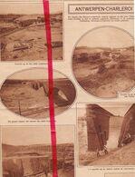 Orig. Knipsel Coupure Tijdschrift Magazine - Nieuwe Spoorlijn Antwerpen - Charleroi , Werken Te Linkebeek & Ukkel - 1928 - Ohne Zuordnung