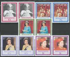 NB - [808565]TB//**/Mnh-Bahamas 1986, Portraits De La Reine, Différentes époques, SC En Paire - Bahamas (1973-...)