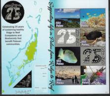 PALAU, 2019, MNH, PALAU CONSERVATION SOCIETY, FISH, CORALS, BIRDS, BIODIVERSITY, SHEETLET - Vissen