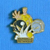 1 PIN'S //  ** MARSEILLE PÉTANQUE ** . (WWW) - Boule/Pétanque