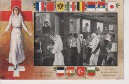 Le Passage Des Grands Blessés Français La Croix-Rouge Internationale Armoiries RED CROSS 1914/15 WWI WWICOLLECTION - Croix-Rouge