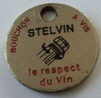 Jeton De Caddie - STELVIN - Bouchon à Vis - Le Respect Du Vin - Au Verso : Champlure Rosé - En Métal - - Jetons De Caddies