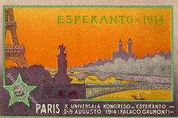 Esperanto Paris (75000) Frankreich X. Universala Kongreso 1914 I-II - Esperanto