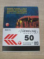 Autelca Phonecard,Digitalisation Hong Kong 1993, Set Of 1, Used - Hongkong