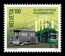 Switzerland 2020 Mih. 2676 First Electric Tram In Basel MNH ** - Ongebruikt