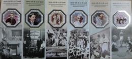 India 2019 Gandhi Einstein Luther Ho Chi Minh Mandela Stamp Odd Unusual Shape Miniature Souvenir Sheet Block MNH - Blocks & Kleinbögen