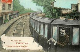 Maubeuge * Souvenir De La Ville ! * Train Wagon Gare - Maubeuge