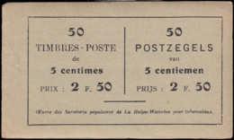 BELGIQUE Carnets ** A13b, Carnet De 50 Timbres à 5 Centimes (Cob) La Prévoyance Assurance - Dôme Des Halles - Carnet 1907-1941
