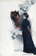 DC3310 - Horse Pferd Pferde Dame Mit Pferd - Chevaux