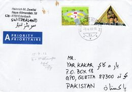 2013 HELVETIA TO PAKISTAN USED COVER WITH SCOUT STAMP - Lettres & Documents